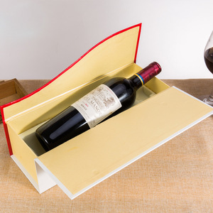 Single wine bottle shipping box protective packaging wholesale