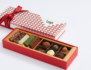 Rigid Cardboard Sweets Bonbon Gift Packaging With Tray Candy Luxury Chocolate Paper Box Wholesale