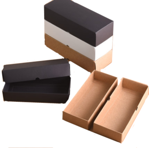Custom Foldable Square Brown Yellow White  Kraft Paper Box Manufacturer  For Socks Underwear Packaging Gifts Storage Wholesale