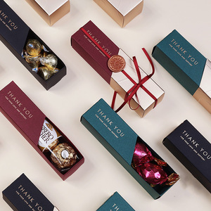 Wholesale fancy luxury gold foil hot stamping small foldable gift candy chocolate bar packaging wedding favor boxes for guests