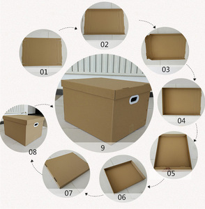 Foldable Corrugated Cardboard  packaging paper Boxes manufacture for moving Easy Carry Handles Tool Files Bankers  Kit