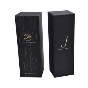 Paper Wine Case Base Box with Lid Standard 750ml Large Bottle Single Wine Packing Box Supplier