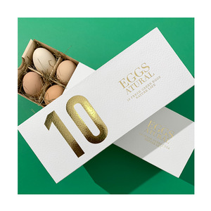 10 Holes Gold Stamping Paper Boxes for Egg