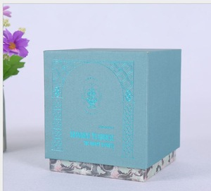 10 years factory customize high quality matt lamination cardboard lid and bottom candle jars paper boxes