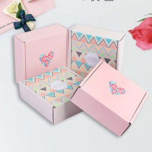 Custom printed square corrugated mailing box cosmetics packaging