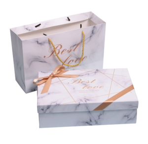 Wholesale Cosmetics Packaging Paper Gift Box with Handle