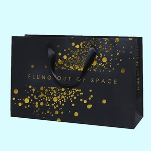 Hot Selling Luxury Clothing Paper Bag with Gold Stamping Logo