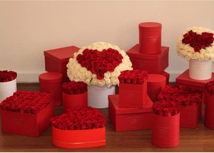 Factory Custom Paper Cardboard Round Box with Lid For Wedding Decor Flower