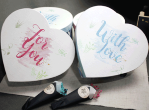 Heart Design Rigid Paper Packaging Box with Lid